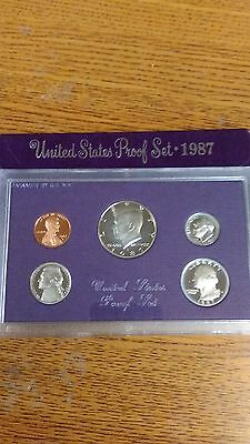 United States Mint Proof Set 1987 Coin Set New In Original Package