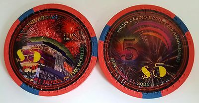 $5 Las Vegas Palms 5th Anniversary Casino Chip - Uncirculated