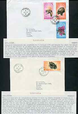 GRENADA: (14108) flora/fish/Indenpence/cancels/covers