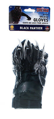 Captain America 3 Deluxe Black Panther Costume Gloves Adult One Size
