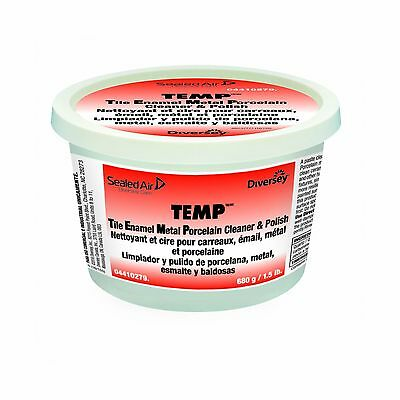 Diversey TEMP Professional Paste Cleaner and Polish (1.5-Pound Tub 12-Pack) New