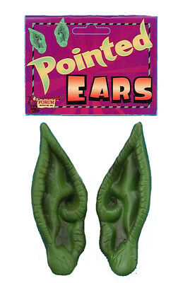 Prosthetic Pointed Green Child Costume Ears