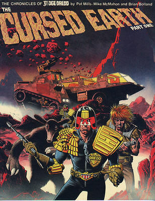 2000AD ft JUDGE DREDD (THE CHRONICLES) - THE CURSED EARTH - Books 1 & 2 - VGC