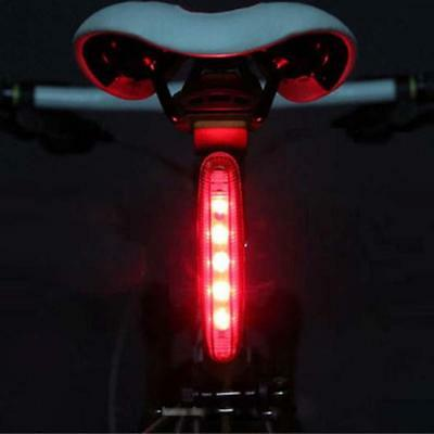 Cycling Bicycle Super Bright Red 5 LED Rear Tail Light Bike Lamp 4 modes GH