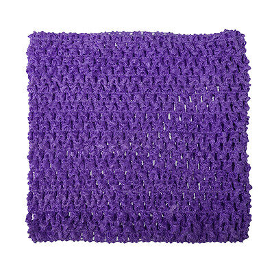 new crochet tutu tube elastic top girl newborn child tween teen Jr adult purple