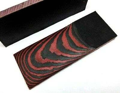 Pair of Black & Red Canvas Micarta Scales Knife Handle Making Blanks Crafts B+R