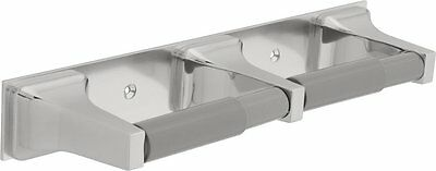 Delta 45270 Twin Toilet Paper Holder w/ 2 Plastic Rollers Chrome