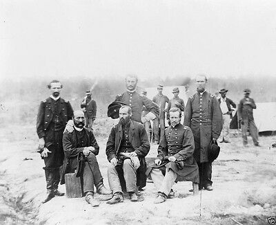 Union 39th US Colored Infantry Officers Petersburg VA 8x10 US Civil War Photo