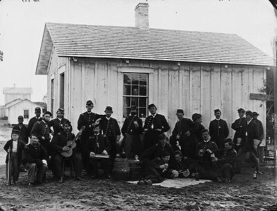 Union 4th US Colored Infantry Officers Fort Slocum DC - 8x10 Civil War Photo