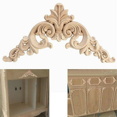 New Woodcarving Decal European Style Corner Applique Wood Engrave Home Decor 1PC