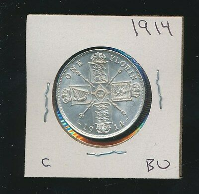 Great Britain  - Silver Florin - 1914 - Choice Bu - #c - Investment