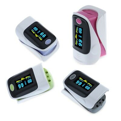 Digital Blood Pressure Fingertip Pulse Instant Read Monitor Display Oximeter US