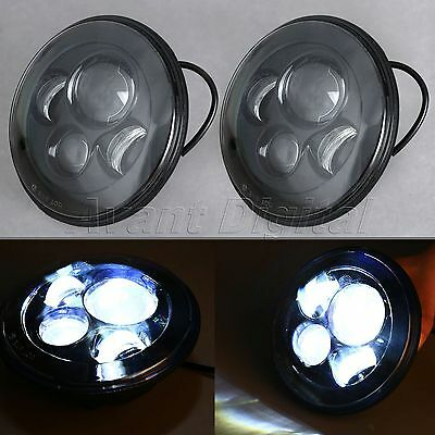 "2x 7"" H4 Cree LED High Low Beam Headlight For Jeep Wrangler JK 2 Door 2007-2014"