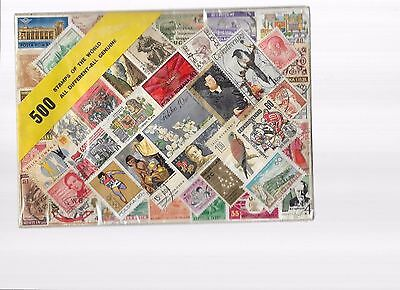 mixed lot 500 stamps of the world alldifferent all genuine