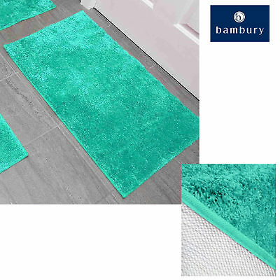 Bambury Microplush Giant Bath Floor Non Slip Rubber Back Mat 60x100cm OCEAN