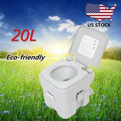 5 Gallon / 20L Portable Camping Toilet Flush Travel Outdoor Tent Hiking Potty