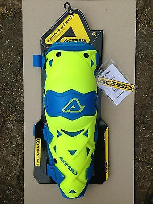 Acerbis Impact Evo 3.0  Hinged Knee Guards Pads  Protection Yellow / Blue Pair
