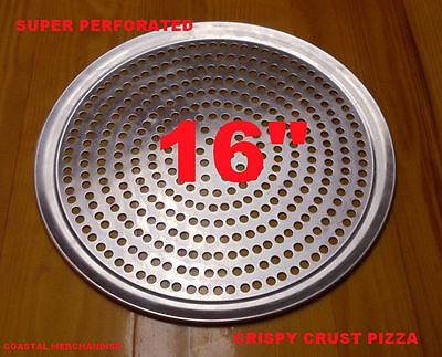 16 Inch Super Perforated Pizza Pan Commercial Restaurant Quality