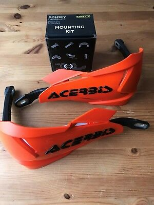 Acerbis X - Factory Universal Fit Bike Hand Guards & Fitting Kit All Ktm Orange