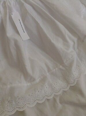 New With Tags House Of Hatten White Eyelet Baby Bedding Crib Skirt