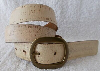 NWOT Abercrombie & Fitch Distressed Leather Belt Men Women Unisex S