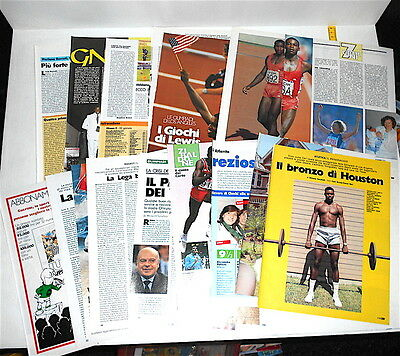 CARL LEWIS 1982/96 Guerin Sportivo 18 pages clippings pagine atletica olimpiadi