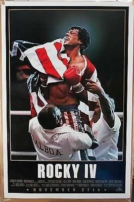 Rocky IV  ORIGINAL ADVANCED 1985 27 X 41 movie poster ROLLED- NEVER FOLDED