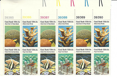 Scott #1827/30...15 Cent...Coral Reefs...Plate Block of 12