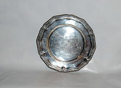 S.S Brittain & Co Sheffield 1860-1919 Silverplate Dinner Plate Georgian Style