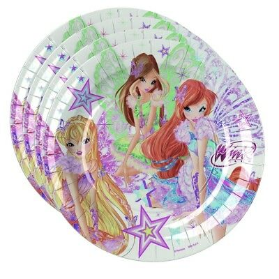 Winx Club - Butterflix - Party Kinder Geburtstag Teller Pappteller 8 Stk. 23cm