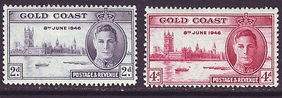 Gold Coast 1946 SC 128-129 MH Set Victory