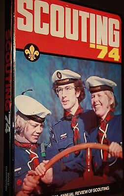 Scouting The Offical Annual Review Of Scouting 1974 Big Hard Cover Book Scouts