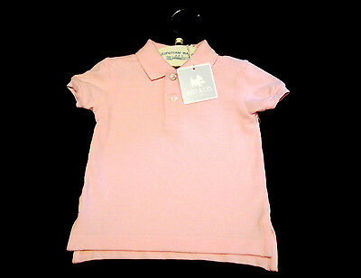 Baby Girls Best & Co,Pique Polo Shirt Sz 6M PINK NEW
