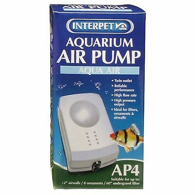 Interpet Aqua Air Pump Aquarium Tropical Coldwater Fish Tank Airpump AP  4