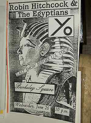 Robin Hitchcock & The Egyptians Yo Berkeley Square 1985 Show Poster Robyn