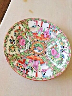 Vintage Chinese Export Famille Canton Rose medallion Plate 10 Inch EUC