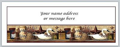 30 Personalized Primitive Country Return Address Labels Buy3 get1 free (bo 287)