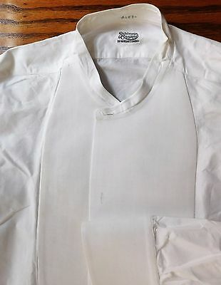 Starched tunic dress shirt size 16 mens vintage Edwardian Robinson & Cleaver