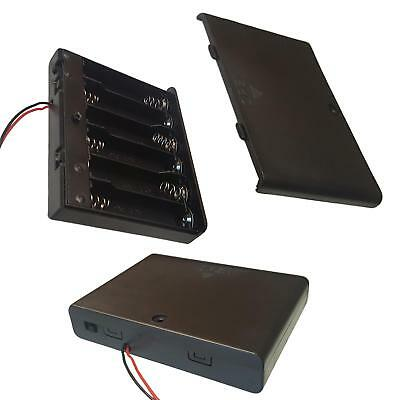 AAx6  AA x 6 Battery Holder Enclosed Box With On-Off Switch Leads
