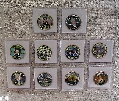 War of 1812 - Colorized Kennedy Half Dollar Coins - Qty 10
