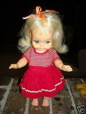 "Horsman 11"" Vinyl & Hard Plastic Doll Maybe Teenie Bopper 1969 Original Dress"