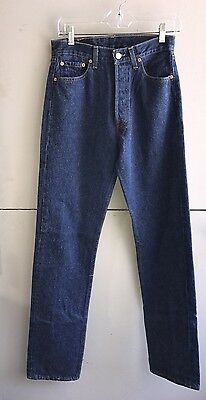 Vintage Levi Jeans Button Fly 501 for Women Made In USA W 27 L34 EUC Denim