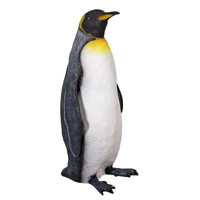 Large Frosty Antarctic King Penguin Garden Sculpture Patio Poolside Statue