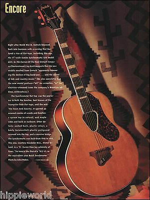 1951 Gretsch Jumbo Synchromatic 125F Model 6021 guitar 8 x 11 pinup photo