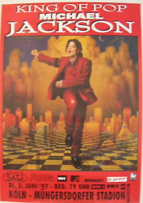 Michael Jackson Concert Tour Poster 1997 King Of Pop