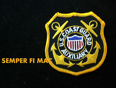 Us Coast Guard Auxiliary Hat Patch Uscg Emblem Logo Pin Up Semper Paratus Vet