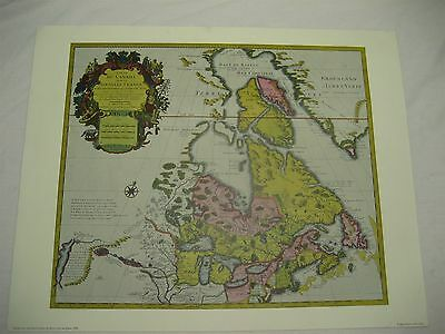 Vtg Penn Prints of Canada & the Great Lakes, by Guillaume De L'isle, 1720