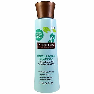 ECOTOOLS 6 oz MAKEUP BRUSH SHAMPOO Phthalates+Parabens-Free DEEP CLEANER #1311