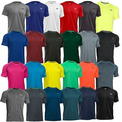 Under Armour AW 2017 Mens T Shirt UA HeatGear Tech SS Training Gym Sport Tee