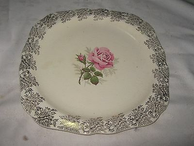 A Vintage English Lord Nelson Ware Floral Cake Platter made by Elijah Cotton